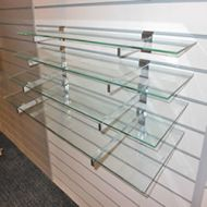 1000 x 310 Glass Shelves